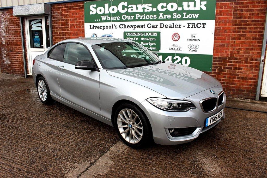 USED 2015 15 BMW 2 SERIES 2.0 218D SE 2d 141 BHP +SAT NAV +BLUETOOTH +SENSORS.