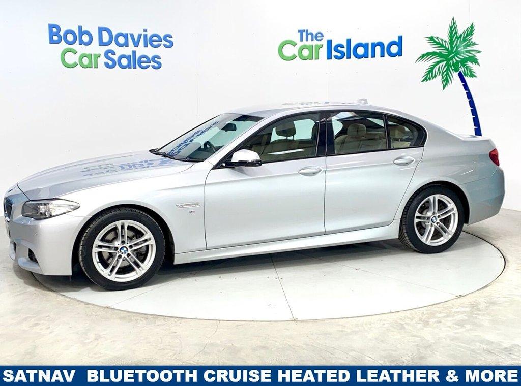 USED 2015 51 BMW 5 SERIES 2.0 520D M SPORT 4d 188 BHP SATNAV  Leather Heated Seats Lots of ugrades
