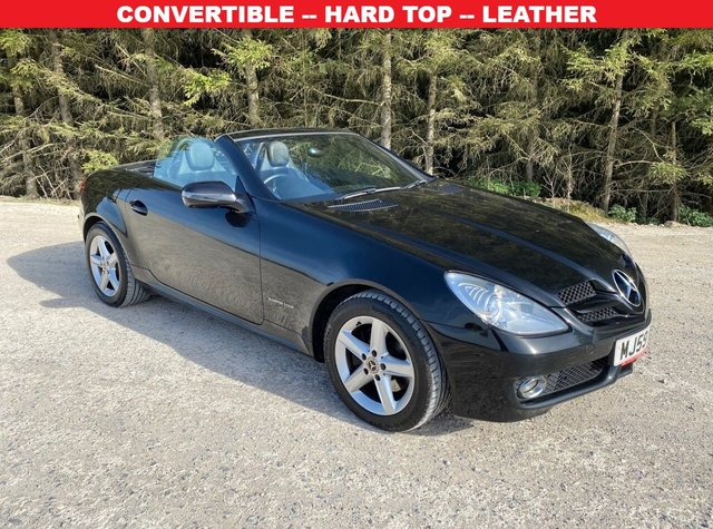 USED 2009 59 MERCEDES-BENZ SLK 1.8 SLK200 KOMPRESSOR 2d 184 BHP CONVERTIBLE -- HARD TOP -- LEATHER