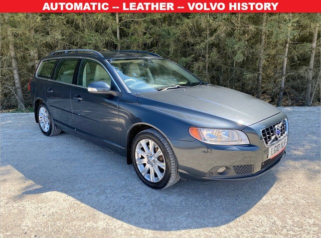 USED 2010 10 VOLVO V70 2.4 D SE AUTO 5d 175 BHP AUTOMATIC -- LEATHER -- VOLVO HISTORY