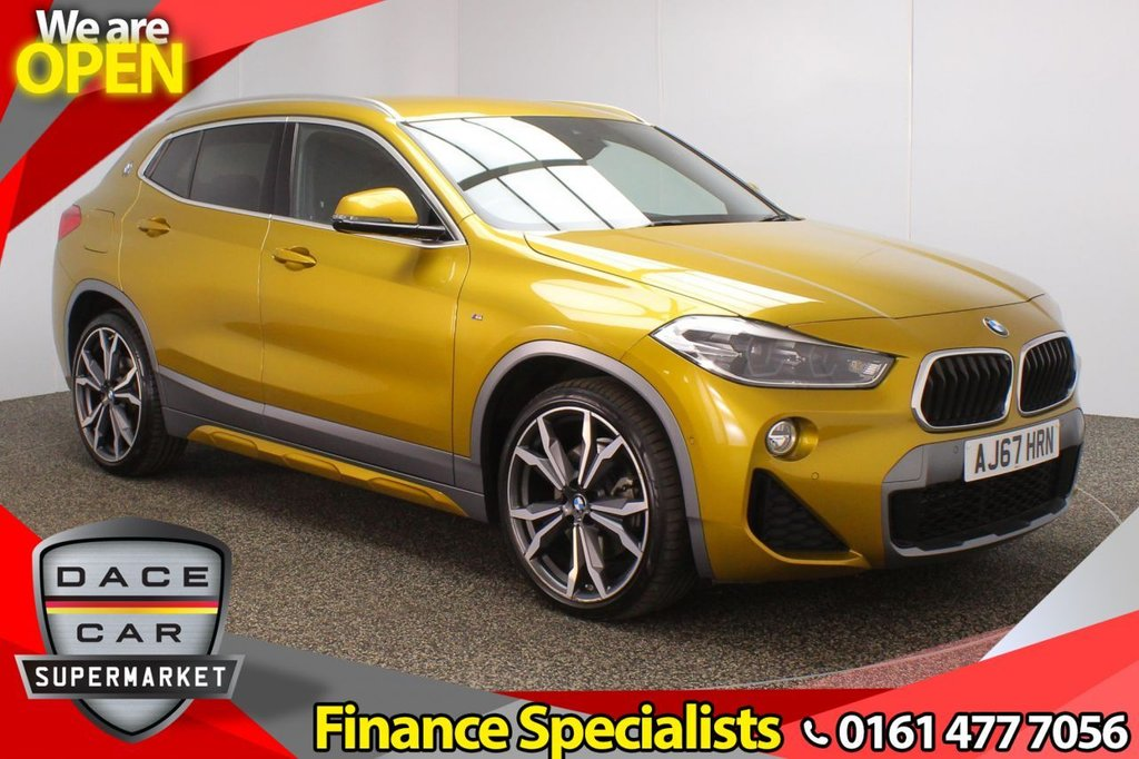 USED 2018 67 BMW X2 2.0 XDRIVE20D M SPORT X 5DR AUTO 188 BHP HEATED FRONT SEATS + SATELLITE NAVIGATION + PARK ASSIST + REVERSING CAMERA + HEAD-UP DISPLAY + HARMAN/KARDON PREMIUM SPEAKERS + BLUETOOTH + CRUISE CONTROL + CLIMATE CONTROL + MULTI FUNCTION WHEEL + DAB RADIO + LED HEADLIGHTS + PRIVACY GLASS + USB PORT + ELECTRIC WINDOWS + ELECTRIC/HEATED/FOLDING DOOR MIRRORS + 20 INCH ALLOY WHEELS
