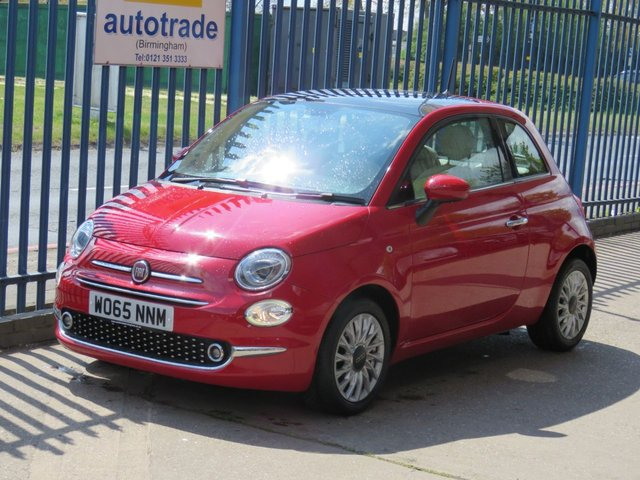 USED 2016 65 FIAT 500 1.2 LOUNGE 3dr 69 Panoramicroof Bluetooth Air conditioning Alloys Finance arranged Part exchange available Open 7 days ULEX Compliant