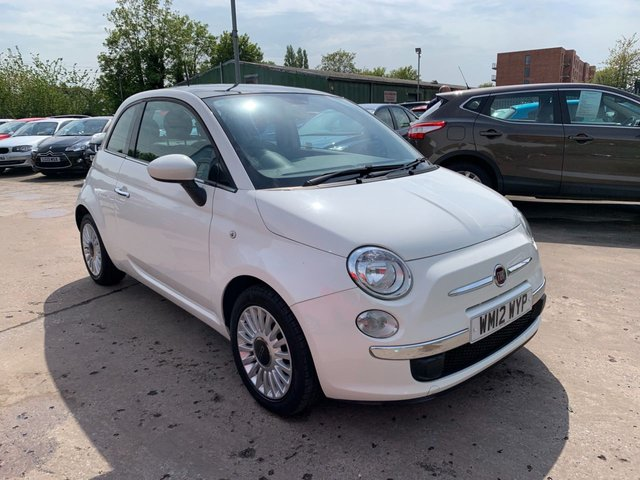 USED 2012 12 FIAT 500 1.2 LOUNGE 3d 69 BHP FULL SERVICE HISTORY