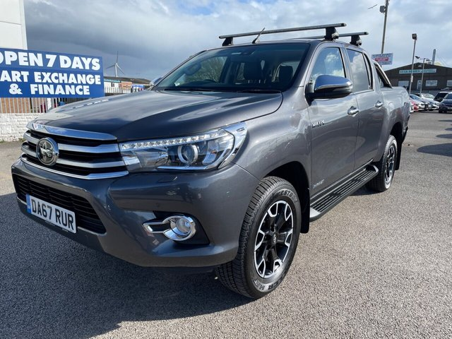 USED 2018 67 TOYOTA HI-LUX 2.4 INVINCIBLE X 4WD D-4D DCB 4d 147 BHP FINANCE ARRANGED**PART EXCHANGE WELCOME**FULL LEATHER*NAV*REVERSING CAM*CRUISE*PARKING SENSORS*DAB*BLTOOTH