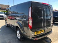 USED 2017 17 FORD TRANSIT CUSTOM 2.0 270 LIMITED LR P/V 129 BHP 3 Seat Configuration Rear & Side Loading Door Security Bulk Head Ply-Lining Spec Including  Air Conditioning Cruise Control Sat Nav DAB Bluetooth Heated Windscreen Rear Parking Sensors  Full Service History