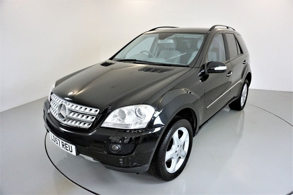 USED 2007 57 MERCEDES-BENZ M-CLASS 3.0 ML280 CDI EDITION S 5d AUTO 188 BHP-2 FORMER KEEPERS-GREAT LOW MILEAGE EXAMPLE-HEATED LEATHER-CRUISE CONTROL-SATNAV-PARKING SENSORS-CLIMATE CONTROL