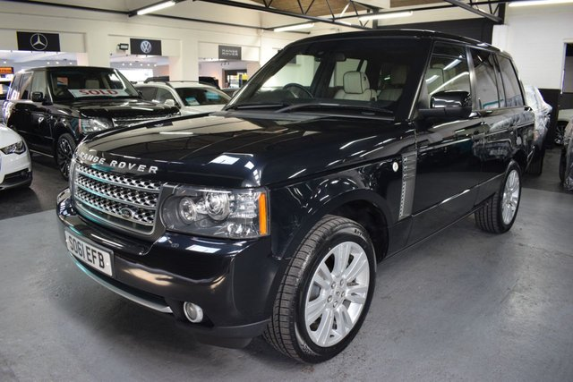USED 2011 61 LAND ROVER RANGE ROVER 4.4 TDV8 VOGUE 5d 313 BHP GREAT VALUE 4.4 TDV8 VOGUE - ONE PREVIOUS KEEPER - 7 SERVICE STAMPS TO 65K - IVORY LEATHER - 20 INCH ALLOYS - NAV - TV - DUAL VIEW - REVERSE CAMERA