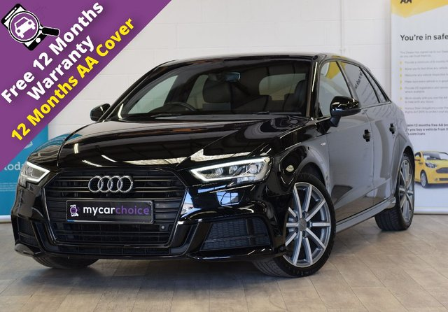 USED 2017 67 AUDI A3 2.0 TFSI BLACK EDITION 5d 188 BHP FULL AUDI SERVICE HISTORY, BANG AND OLUFSEN SOUND SYSTEM, HEATED SEATS, LED HEADLIGHTS, PRIVACY GLASS, BLACK PACK, COMFORT PACK, INTERIOR LIGHTS PACK