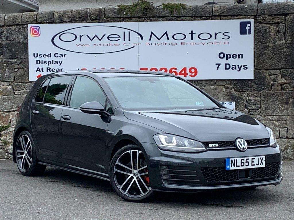 USED 2015 65 VOLKSWAGEN GOLF 2.0 GTD 5d 181 BHP FULL SATELLITE NAVIGATION+CRUISE CONTROL+HEATED FRONT SEATS+DAB RADIO+FULL SERVICE HISTORY+2 OWNERS FROM NEW