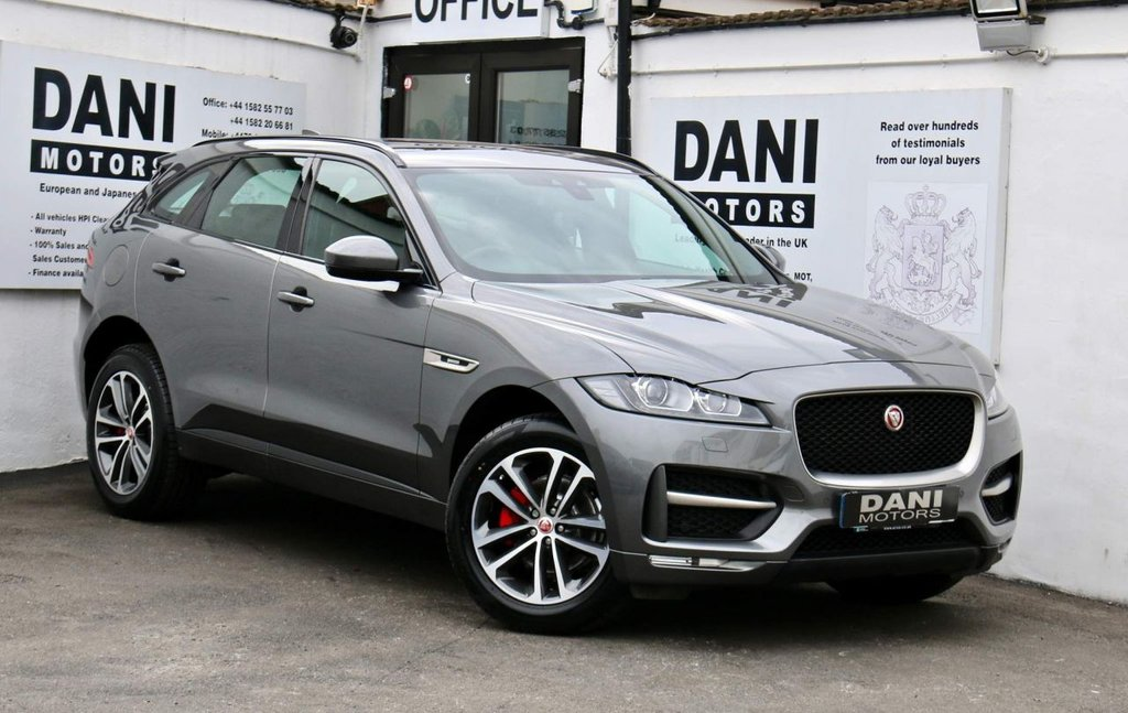 USED 2017 17 JAGUAR F-PACE 2.0d R-Sport Auto AWD (s/s) 5dr 1 OWNER*SATNAV*REV CAMERA