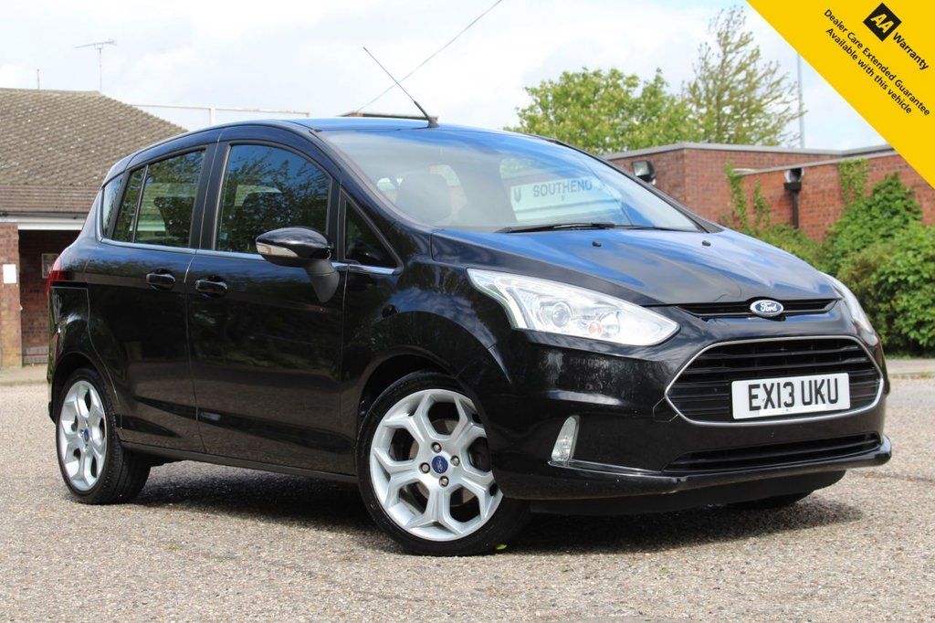 USED 2013 13 FORD B-MAX 1.0 TITANIUM 5d 118 BHP ** SUPERB SERVCE HISTORY ** PAINT + INTERIOR SUPAGARD PROTECTED ** BRAND NEW MOT + SERVICE ** UPGRADED TITANIUM X PACK - BIGGER ALLOYS - HALF LEATHER - HEATED SEATS ** UPGRADED CITY PACK - POWER FOLD MIRRORS + REAR PARKING AID ** CRUISE CONTROL ** BLUETOOTH ** FORD POWER BUTTON START ** AUTO LIGHTS + WIPERS ** ONLY £30 ROAD TAX - ULEZ CHARGE EXEMPT ** NATIONWIDE DELIVERY AVAILABLE ** BUY ONLINE IN CONFIDENCE FROM A MULTI AWARD WINNG 5* RATED DEALER **