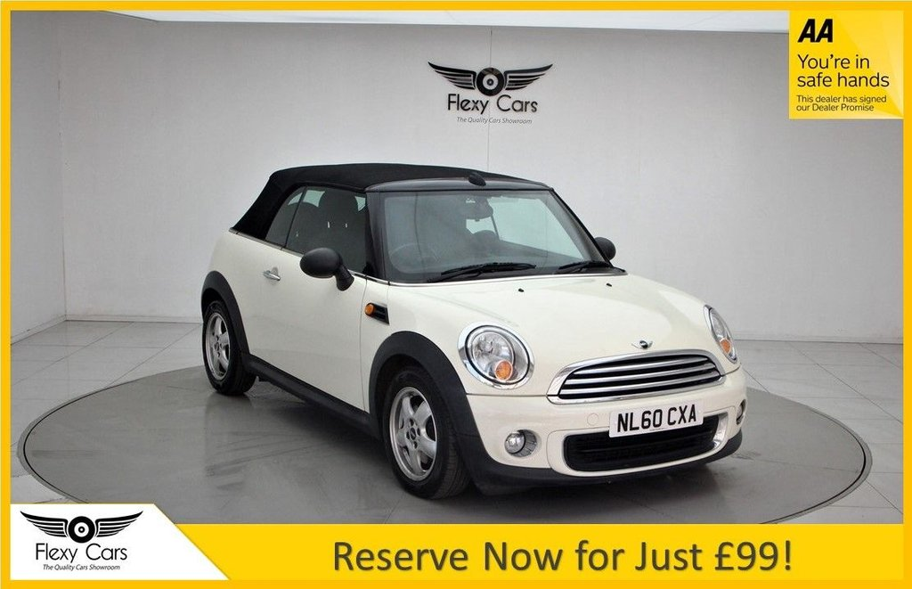 USED 2010 60 MINI CONVERTIBLE 1.6 ONE 2d 98 BHP