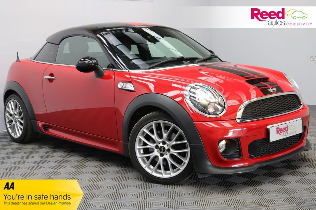 USED 2013 MINI COUPE 1.6 Cooper S 3dr [Sport Chili/Media Pack] SPORT CHILI PACK+£4800K IN ADDED EXTRAS+VERY LOW AVERAGE YEARLY MILEAGE+FULL LEATHER SEAT UPHOLSTERY+HARMAN KARDON HI-FI SYSTEM+VOICE CONTROL