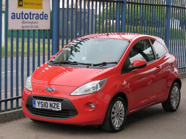 USED 2010 10 FORD KA 1.2 ZETEC 3d 69 BHP air con-alloys-ulez compliant A/C- ALLOYS-PRIVACY GLASS-C/D-HEATED WINDSCREEN-ELECTRIC MIRRORS-REMOTE CENTRAL LOCKING.