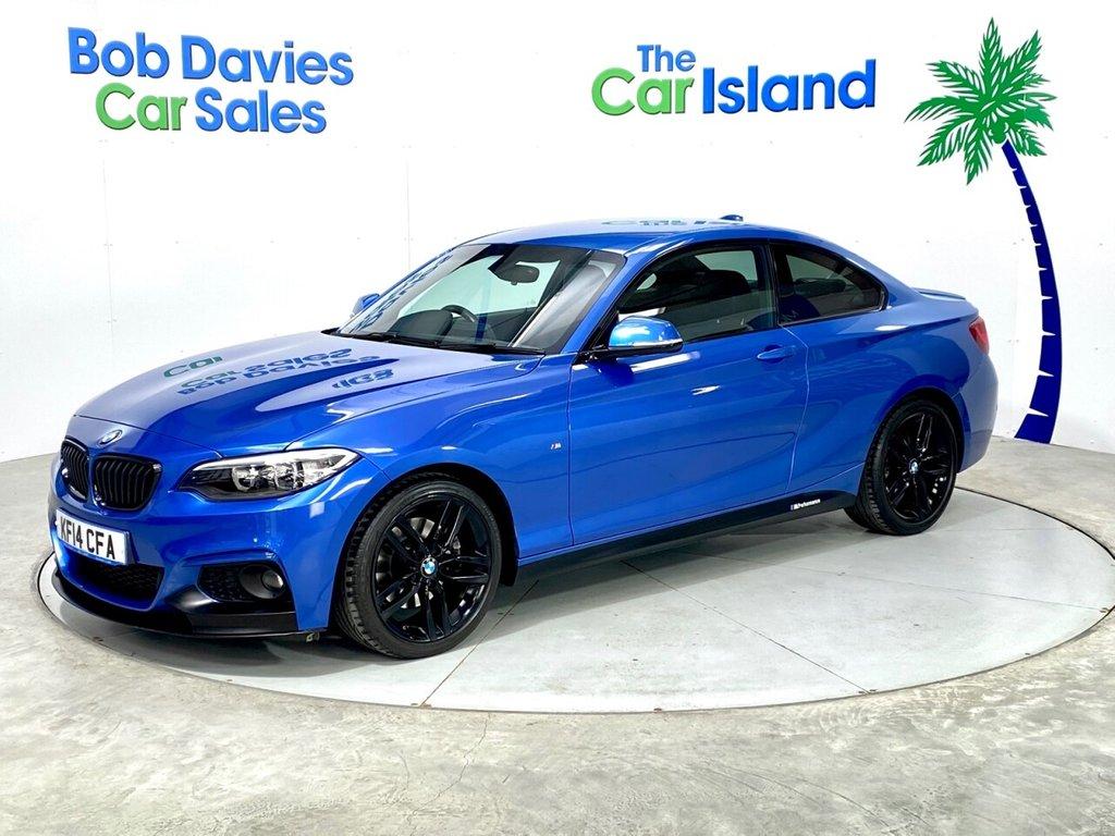 "USED 2014 14 BMW 2 SERIES 2.0 220I M SPORT 2d 181 BHP SATNAV Full Leather 18"" Black Alloys 46000 miles FSH"