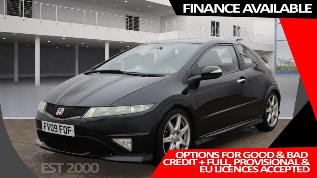 USED 2009 09 HONDA CIVIC 2.0 I-VTEC TYPE-R GT 3d 198 BHP * MOT OCTOBER * PRIVACY GLASS * CLIMATE CONTROL * 18 INCH ALLOY WHEELS *