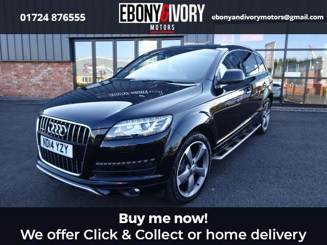 USED 2014 14 AUDI Q7 3.0 TDI QUATTRO S LINE STYLE EDITION 5d 242 BHP FULL AUDI SERVICE HISTORY + 1 YEAR MOT AND BREAKDOWN COVER