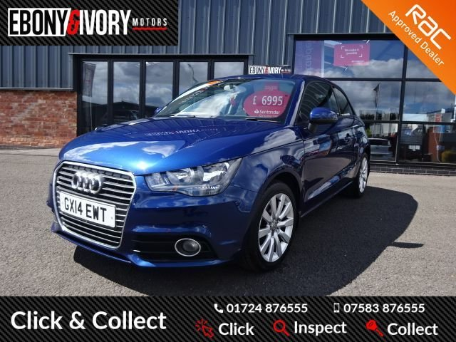 USED 2014 14 AUDI A1 1.6 TDI SPORT 3d 103 BHP FULL AUDI SERVICE HISTORY + 1 YEAR MOT AND BREAKDOWN COVER+LEATHER INTERIOR