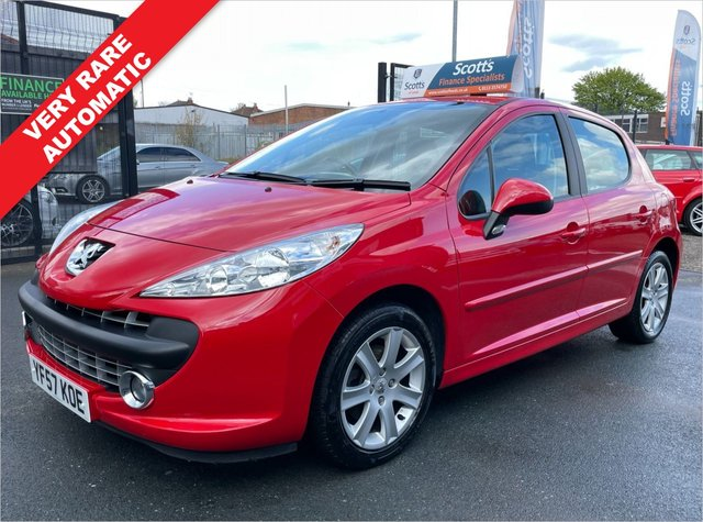 USED 2008 A PEUGEOT 207 1.6 SPORT 5 DOOR RED ULTRA LOW MILEAGE 1 OWNER FROM NEW MOT JAN 2022-  FSH 24000 Miles Excellent Condition- Zero Owner on Log Book