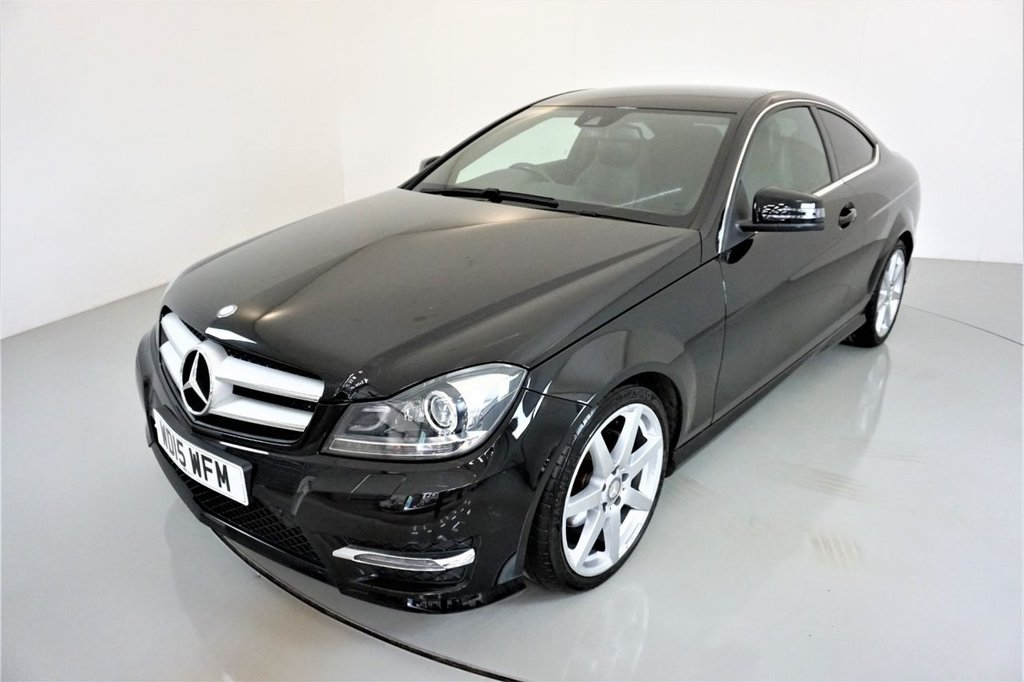 USED 2015 15 MERCEDES-BENZ C-CLASS 2.1 C250 CDI AMG SPORT EDITION 2d AUTO-2 OWNER CAR-HALF LEATHER UPHOLSTERY-18