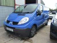 USED 2010 60 RENAULT TRAFIC 2.0 SL27 DCI  Swb 5d 115 BHP 2010 60 Trafic SL2700 2.0 115 bhp Cdi in blue no vat to pay