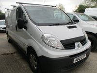 USED 2012 RENAULT TRAFIC 2.0 115 bhp LL2900 115 Lwb low roof 2012 12  RENAULT TRAFIC LWB LL 2900 IN white lec windows / mirrors