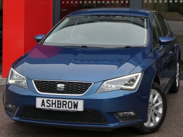 USED 2014 14 SEAT LEON 1.6 TDI SE TECHNOLOGY 5d 105 S/S CAMBELT WATER PUMP CHANGED,SAT NAV, LED LIGHTS, BLUETOOTH PHONE & MUSIC STREAMING, DAB RADIO, MANUAL 5 SPEED GEARBOX, START STOP TECHNOLOGY, LED FRONT & REAR LIGHTS, FRONT FOG LIGHTS, 16 INCH 10 SPOKE ALLOYS, GREY CLOTH INTERIOR, LEATHER MULTI FUNCTION STEERING WHEEL, CRUISE CONTROL, ELECTRIC WINDOWS x4, ELECTRIC HEATED MIRRORS, REMOTE CENTRAL LOCKING, MFD TRIP COMPUTER, CD HIFI WITH 2x SD CARD READERS, MDI INPUT FOR IPOD / USB DEVICES, AIR CONDITIONING, SERVICE HISTORY, £0 ROAD TAX (99 G/KM)