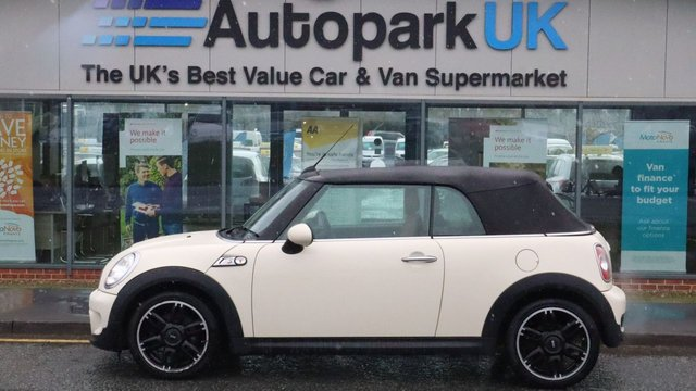 USED 2015 15 MINI CONVERTIBLE 1.6 COOPER S 2d 184 BHP LOW DEPOSIT OR NO DEPOSIT FINANCE AVAILABLE . COMES USABILITY INSPECTED WITH 30 DAYS USABILITY WARRANTY + LOW COST 12 MONTHS ESSENTIALS WARRANTY AVAILABLE FROM ONLY £199 (VANS AND 4X4 £299) DETAILS ON REQUEST. ALWAYS DRIVING DOWN PRICES . BUY WITH CONFIDENCE . OVER 1000 GENUINE GREAT REVIEWS OVER ALL PLATFORMS FROM GOOD HONEST CUSTOMERS YOU CAN TRUST .