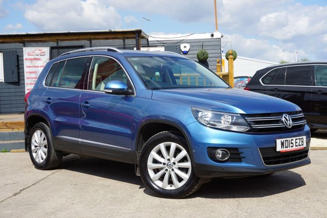 USED 2015 15 VOLKSWAGEN TIGUAN 2.0 MATCH TDI BLUEMOTION TECH 4MOTION DSG 5d 181 BHP GREAT SPEC, DRIVES SUPERB