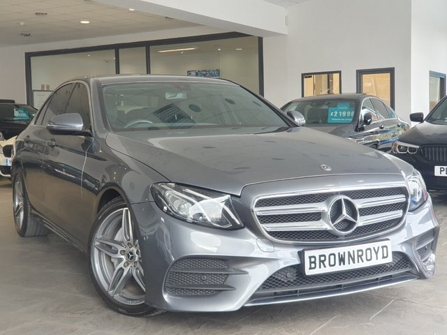 "USED 2018 18 MERCEDES-BENZ E-CLASS 2.0 E 220 D AMG LINE 4d 192 BHP +SAT NAV+CAMERA+19"" ALLOYS+"