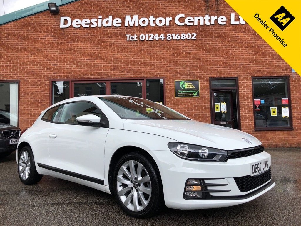 USED 2017 67 VOLKSWAGEN SCIROCCO 2.0 TDI BLUEMOTION TECHNOLOGY DSG 2d 148 BHP Fully stamped service history : Bluetooth : DAB Radio : Cloth upholstery : Isofix fittings : Air-conditioning : Auto headlights : Optional paddleshift controls : Rear parcel shelf