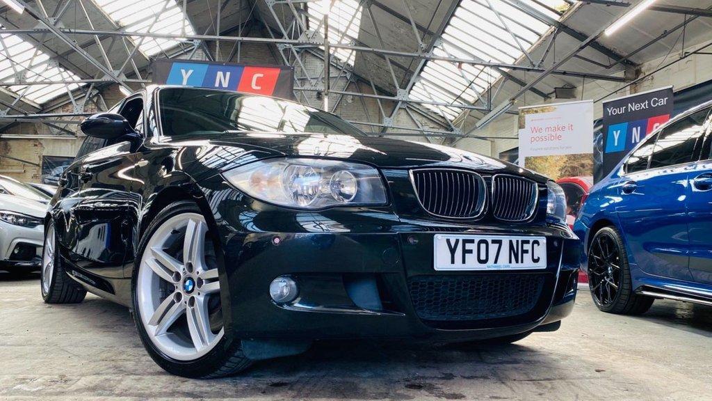 USED 2007 07 BMW 1 SERIES 3.0 130i M Sport 5dr 130iMSPORT+FSH+18S+METBLACKWOW