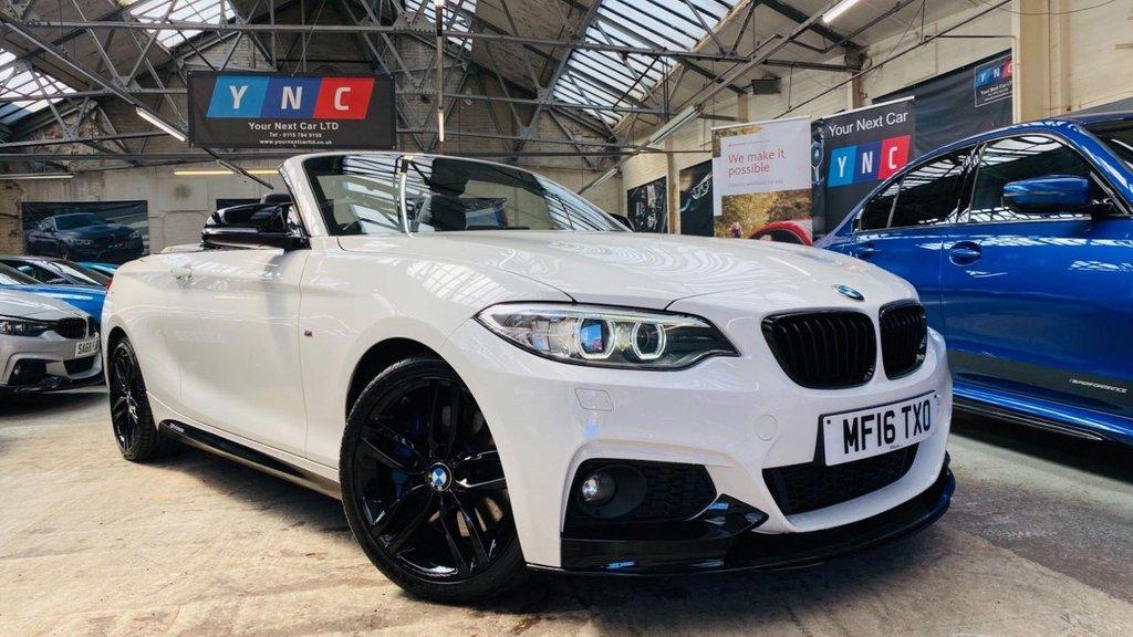 USED 2016 16 BMW 2 SERIES 2.0 218d M Sport (s/s) 2dr PERFORMANCEKIT+MPLUSPACK+LTHR
