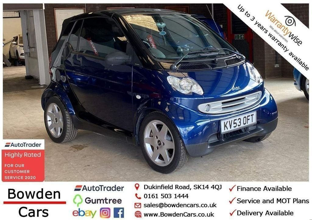 USED 2003 53 SMART CITY COUPE 0.6 PULSE SOFTOUCH 2d 61 BHP **FREE NATIONWIDE DELIVERY**