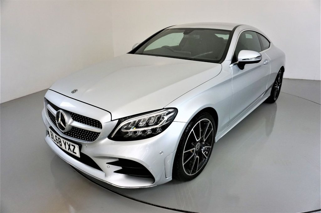 USED 2018 68 MERCEDES-BENZ C-CLASS 2.0 C 220 D AMG LINE 2d AUTO-1 OWNER CAR-HEATED HALF LEATHER-19