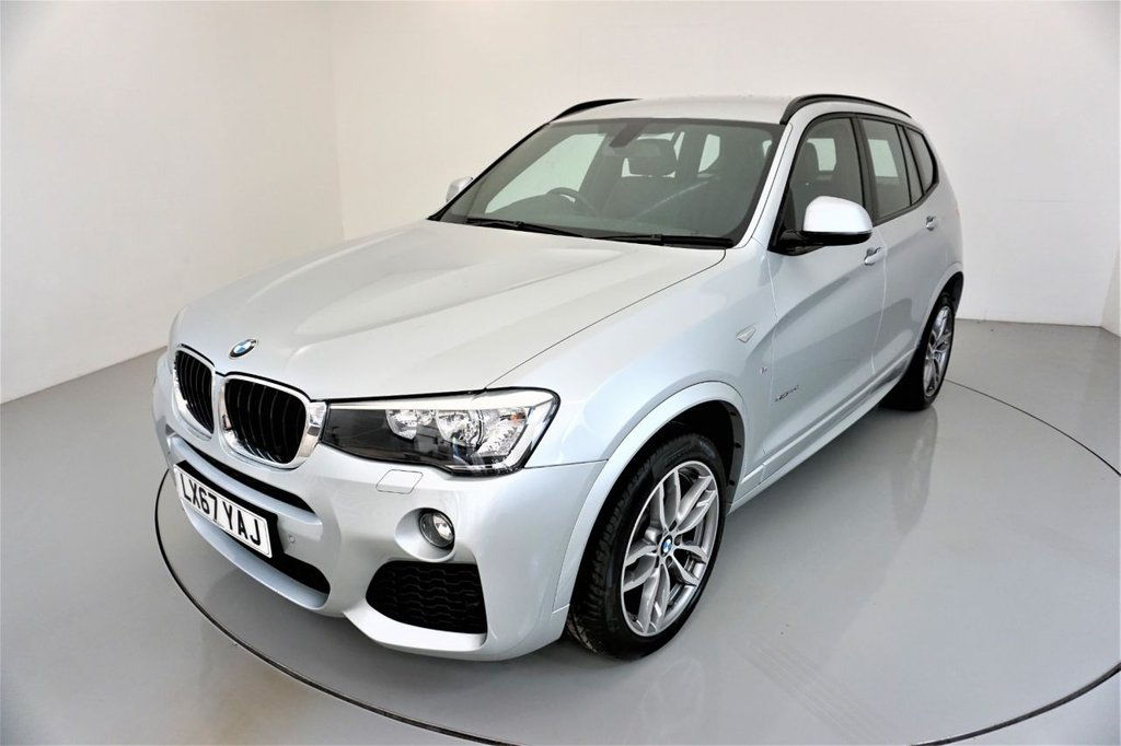 USED 2017 67 BMW X3 2.0 XDRIVE20D M SPORT 5d AUTO 188 BHP-1 OWNER CAR-YES ONLY 2000 MILES-HEATED BLACK DAKOTA LEATHER-19