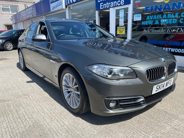USED 2014 14 BMW 5 SERIES 2.0 520D LUXURY 4d 181 BHP LEATHER*NAV*CRUISE*CAMERA*BMW SERVICE HISTORY*BLUETOOTH