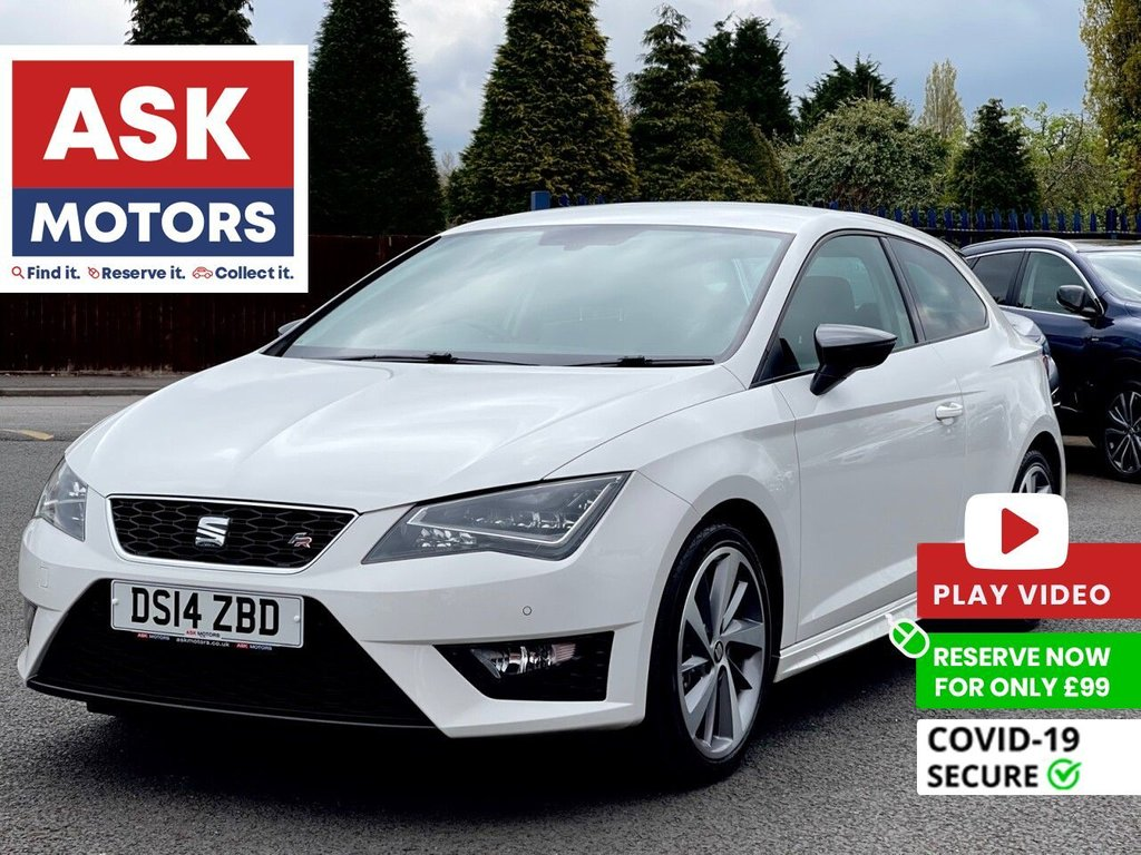 USED 2014 14 SEAT LEON 2.0 TDI FR TECHNOLOGY 3d 150 BHP 1 REG KEEPER STYLE PACK SEAT SERVICE HISTORY