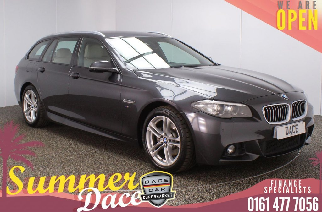 USED 2015 10 BMW 5 SERIES 2.0 520D M SPORT TOURING 5DR AUTO 188 BHP FULL SERVICE HISTORY + HEATED LEATHER SEATS + SATELLITE NAVIGATION + REVERSING CAMERA + PARKING SENSOR + BLUETOOTH + CRUISE CONTROL + CLIMATE CONTROL + MULTI FUNCTION WHEEL + HEATED REAR SEATS + ELECTRIC FRONT SEATS + XENON HEADLIGHTS + DAB RADIO + ELECTRIC WINDOWS + ELECTRIC DOOR MIRRORS + 18 INCH ALLOY WHEELS
