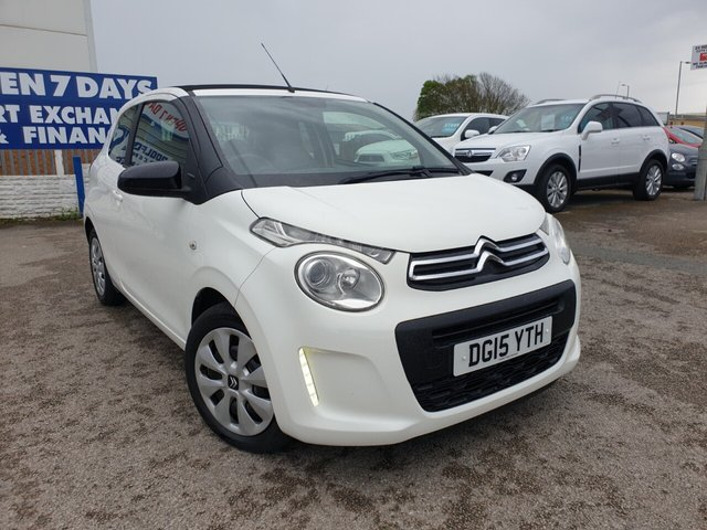 USED 2015 15 CITROEN C1 1.0 AIRSCAPE FEEL 3d 68 BHP FINANCE ARRANGED**PART EXCHANGE WELCOME**£0 TAX*CONVERTIBLE*BLUETOOTH*DAB*USB*AUX*AIR CON*12 MONTHS MOT