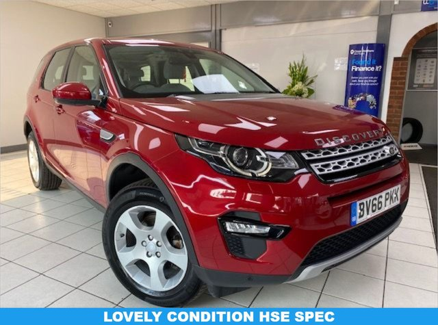 USED 2016 66 LAND ROVER DISCOVERY SPORT 2.0 TD4 HSE 5d 150 BHP FIRENZE RED METALLIC / IVORY LEATHER / HEATED SEATS / SATNAV / BLUETOOTH