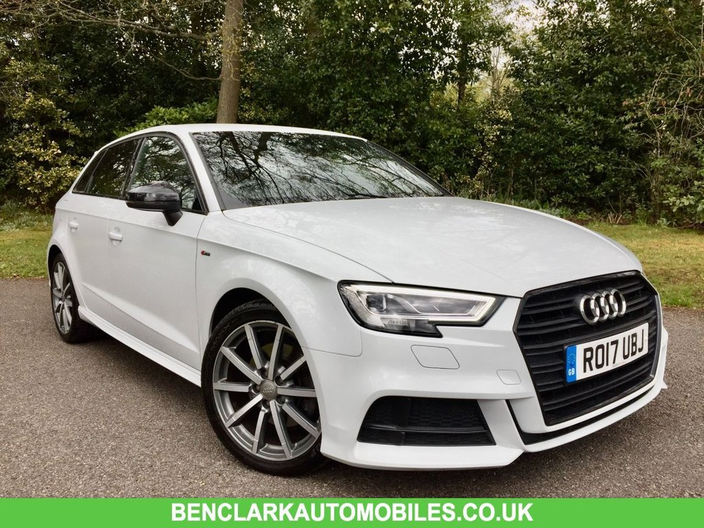 USED 2017 17 AUDI A3 2.0 TFSI BLACK EDITION 5d AUTO 188 BHP 1 AIR HOSTESS OWNER FROM NEW //FULL AUDI/SPECIALIST SERVICE HISTORY NEW FRONT AND REAR BRAKE DISCS AND PADS//X4 NEW TYRES/FULL AUDI /SPECIALIST SERVICE HISTORY