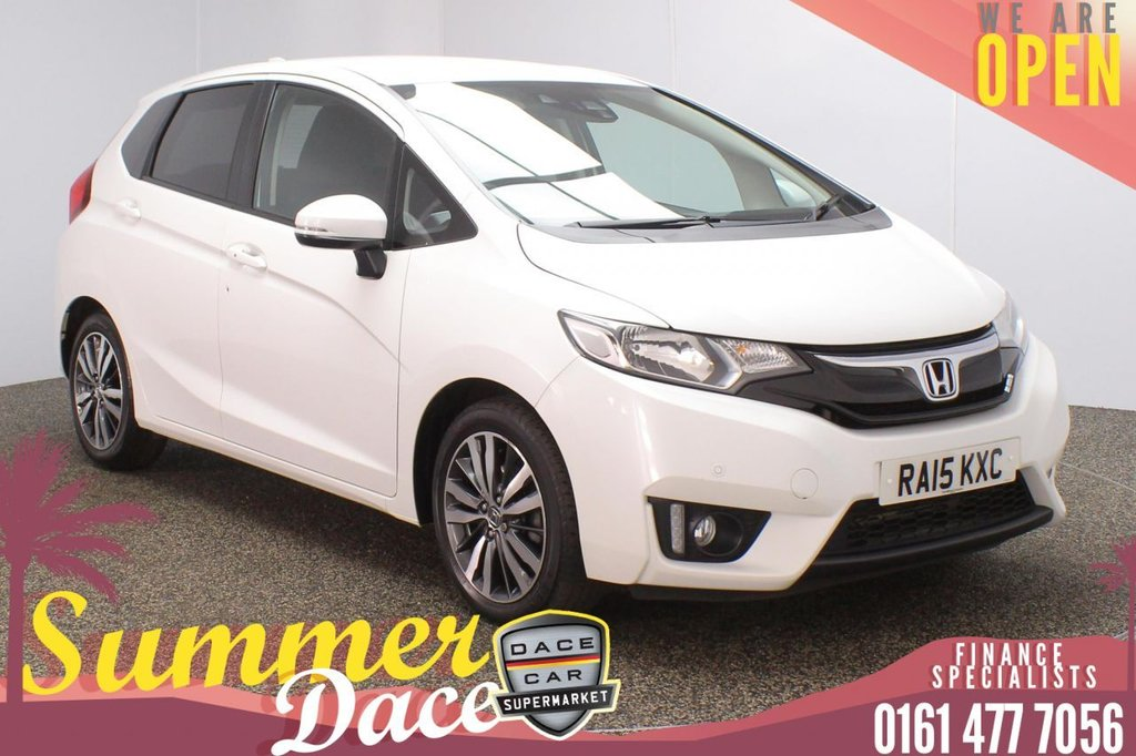 USED 2015 15 HONDA JAZZ 1.3 I-VTEC EX NAVI 5DR 101 BHP FULL MAIN DEALER SERVICE HISTORY + £30 12 MONTHS ROAD TAX + SATELLITE NAVIGATION + REVERSING CAMERA + PARKING SENSOR + BLUETOOTH + CRUISE CONTROL + CLIMATE CONTROL + MULTI FUNCTION WHEEL + LANE ASSIST SYSTEM + DAB RADIO + PRIVACY GLASS + ELECTRIC WINDOWS + ELECTRIC/HEATED/FOLDING DOOR MIRRORS + 16 INCH ALLOY WHEELS