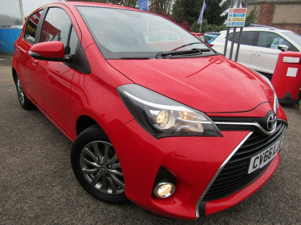 USED 2016 66 TOYOTA YARIS 1.3 VVT-I ICON 5d 99 BHP Great example ** Well maintained documented service history ** Balance of Toyota warranty ** Drives perfect ** New MOT prior to sale ** Just £30 to tax ** Book a test drive today **