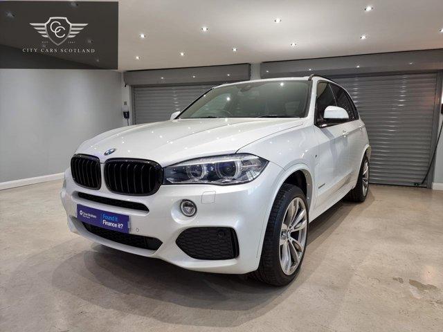 """USED 2018 18 BMW X5 3.0 XDRIVE30D M SPORT 5d 255 BHP METALLIC MINERAL WHITE + 20"""" DIAMOND CUT ALLOY WHEELS + HEATED SEATS"""