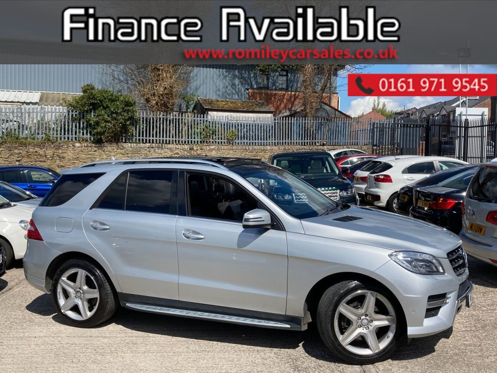 USED 2015 15 MERCEDES-BENZ M-CLASS 2.1 ML250 BLUETEC AMG LINE PREMIUM 5d 204 BHP FULL SERVICE RECORD - 1/2 LEATHER - NAV - REVERSE CAMERA - BLUETOOTH WITH PARKING SENSORS