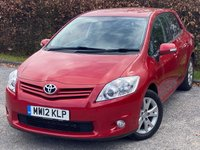 USED 2012 12 TOYOTA AURIS 1.3 VVT-I COLOUR COLLECTION 5d ONE OWNER FROM NEW, LOW MILEAGE, FULL TOYOTA SERVICE HISTORY, BLUETOOTH, REVERSING CAMERA