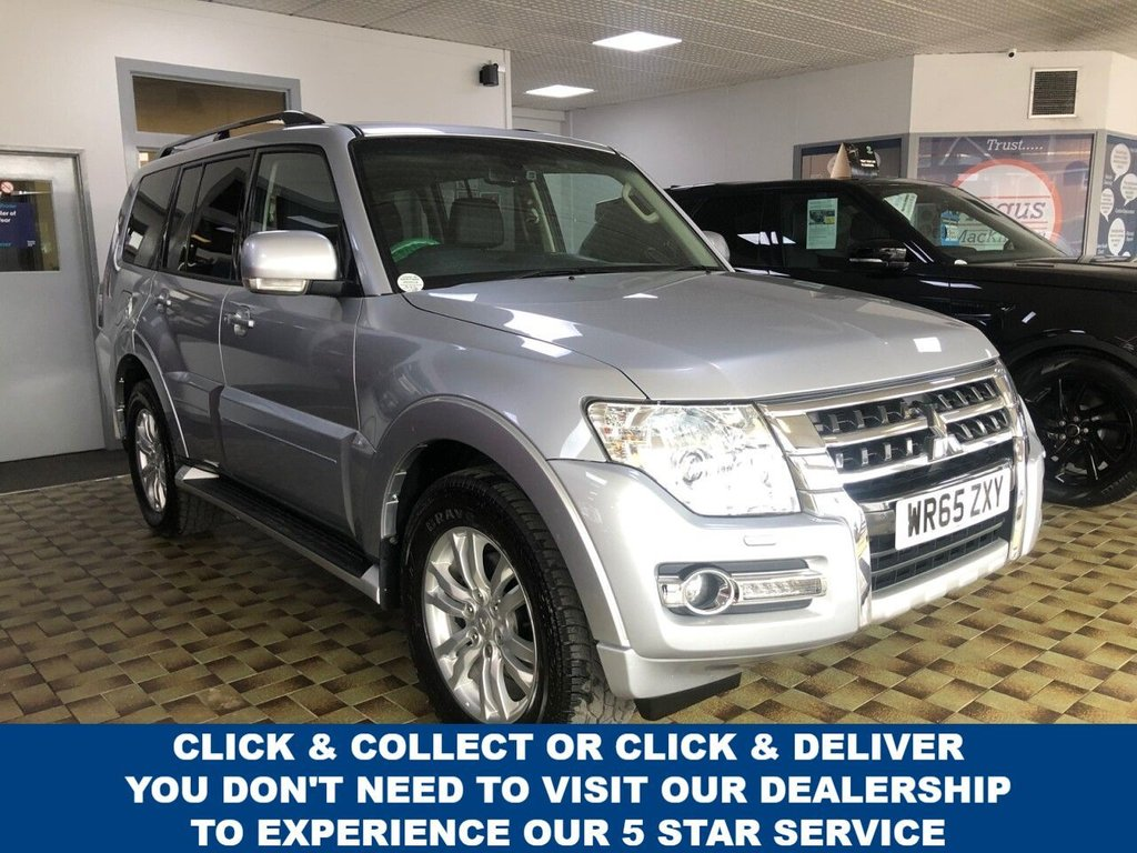 USED 2015 65 MITSUBISHI SHOGUN 3.2 DI-D SG3 5d 7 Seat Family SUV 4x4 AUTO Absolutely Stunning in Silver with Black Leather Interior Massive High Spec and a Very Rare Find Recent Service and MOT with New Front Brakes now Ready to Finance and Drive Away Fantastic Full Service History!