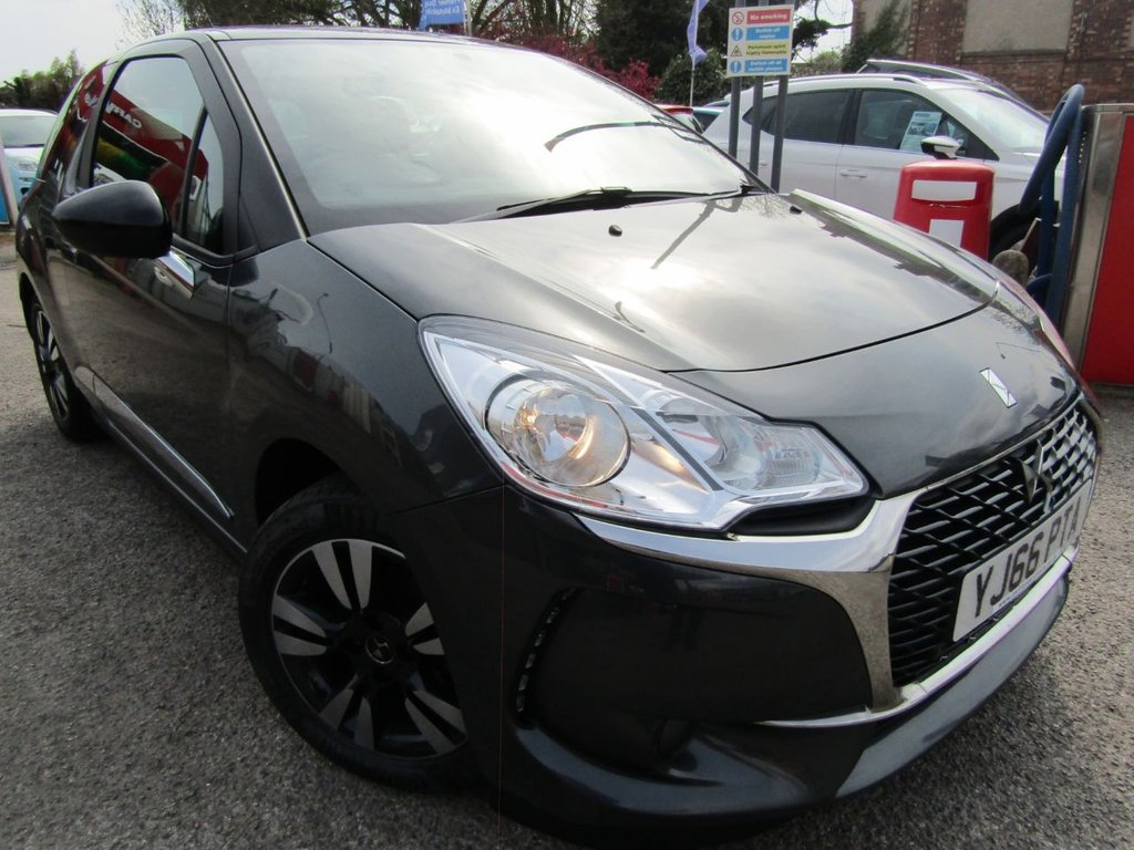 USED 2017 66 DS DS 3 1.2 PURETECH CHIC 3d 80 BHP Excellent one owner car ** low mileage ** Service history ** Free AA Breakdown cover ** Low rate PCP finance ** Warranty parts & labour included ** Test drive welcome ** Part exchange welcome ** low tax bracket **