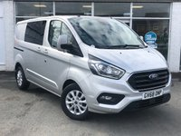 USED 2019 68 FORD TRANSIT CUSTOM 2.0 300 LIMITED DCIV L1 H1 6 Seat 6 Doors AUTO 2 Side Sliding Doors with Spec including Air con Apple Car play  Navigation Heated seats Roof Rack Bluetooth Sync Parking sensors and Full Service HistoryNow Ready to Finance and Drive Away Today.   One Owner From New